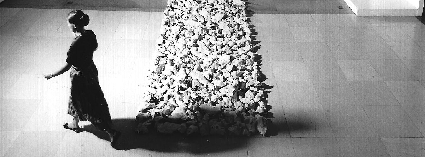 Richard Long sculpture laid out on gallery floor