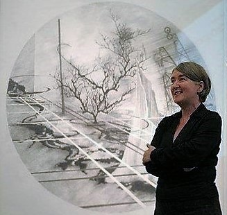 Gill Hedley speaking at Site Gallery, Sheffield, in 2006