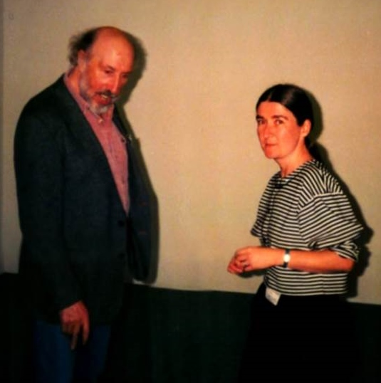 photo of Richard Hamilton with Gill Hedley